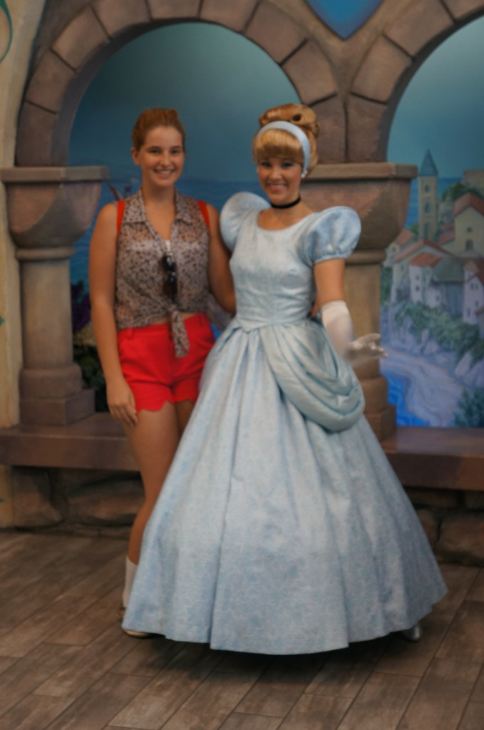 Kate and Cinderella at Disneyland - April 2012