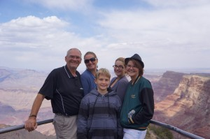 Life Changing Year Family photo at the Grand Canyon