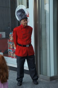 Toy Soldier at FAO Schwarz