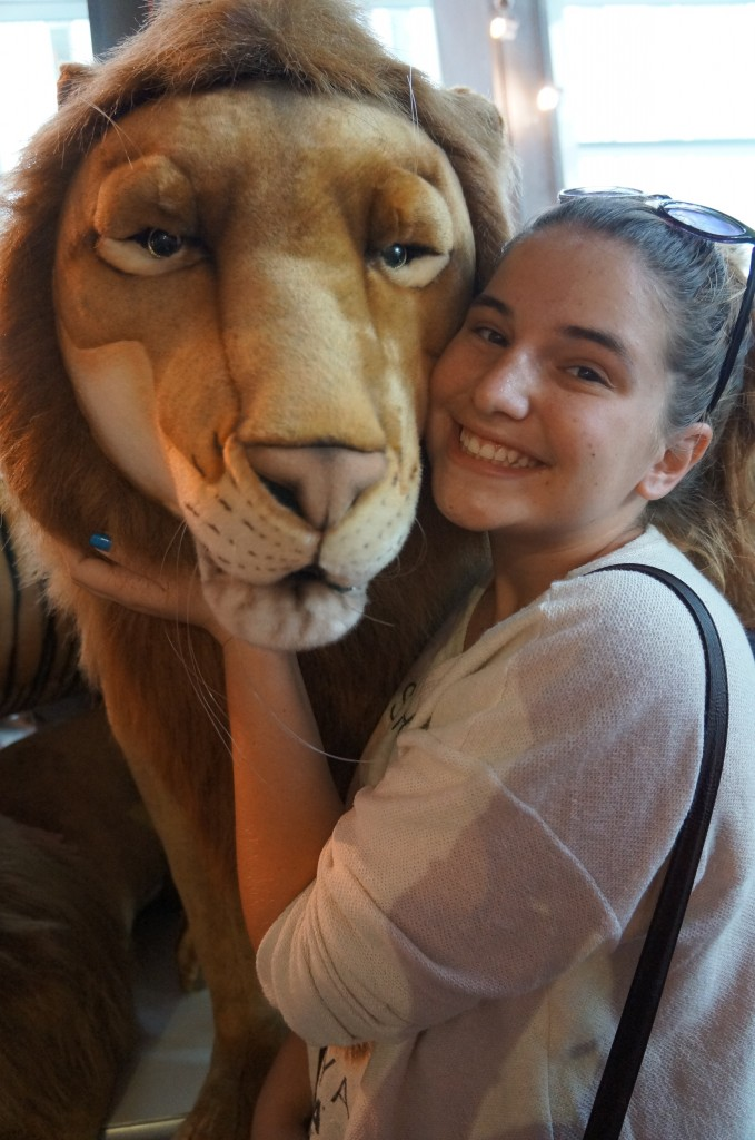Kate and Lion at FAO Schwarz, New York!