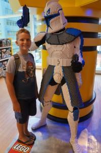 Lego Stormtrooper at FAO Schwarz