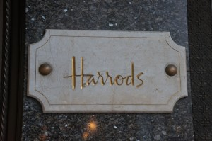 Harrods plaque outside the store