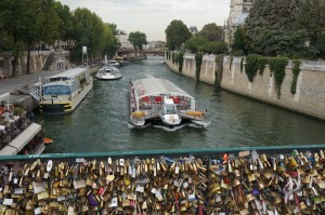 Love locks near Notre Dame!