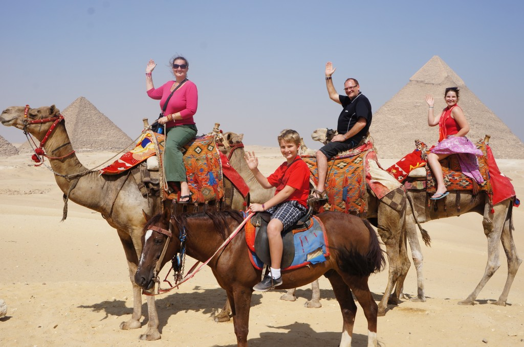Pedersen family camel riding - life changing year!