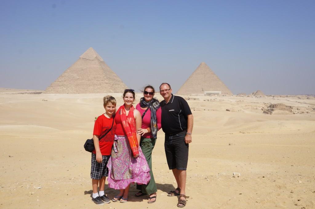 Family Photo at giza, life changing year