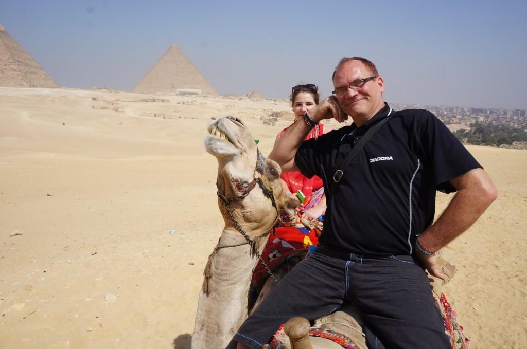 Headrest camel at Giza Pyramids