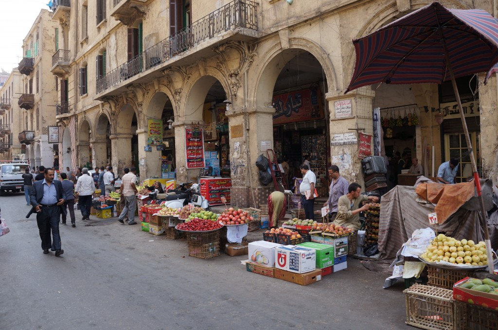Fruit sellers in Cairo streets - 2012