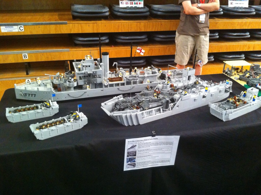 Lego for adults!  Warships on display.