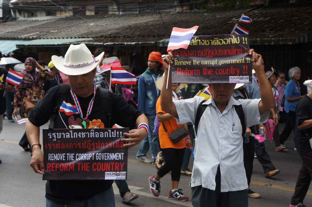 Shutdown Bangkok protestors getting the message out