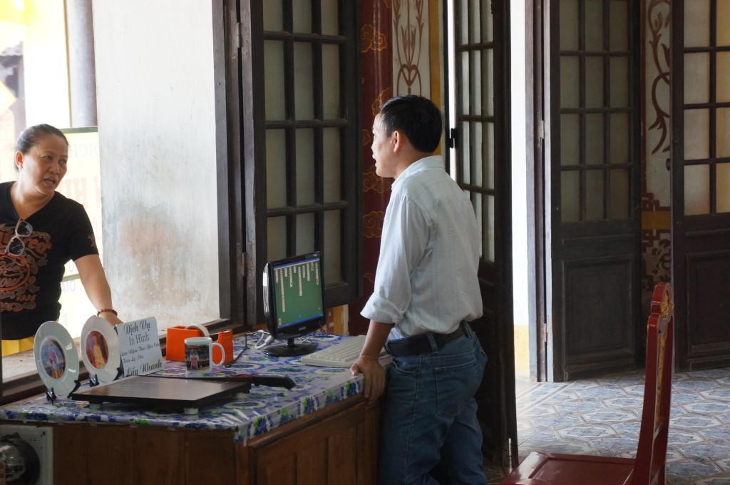 Guy playing games at work in Hue, Vietnam!