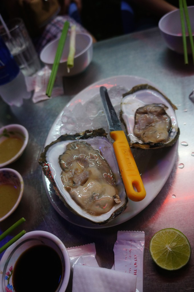 Saigon Street Eats Wasabi Oyster Challenge!