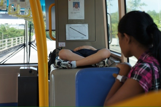 Peeing in the bus — 12